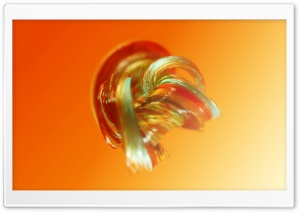 3D Colorful Glass Art, Orange Color Background Ultra HD Wallpaper for 4K UHD Widescreen desktop, tablet & smartphone