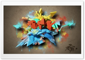 3D Colorful Graffiti HD Wide Wallpaper for Widescreen