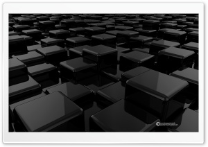 3D Cubes Black HD Wide Wallpaper for Widescreen