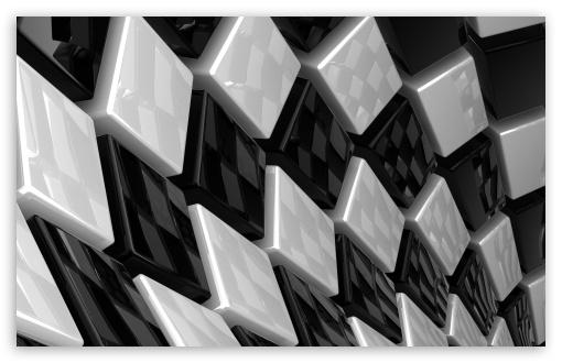3D Cubes Black And White HD wallpaper for Wide 16:10 Widescreen WHXGA WQXGA WUXGA WXGA ; Standard 4:3 5:4 Fullscreen UXGA XGA SVGA QSXGA SXGA ; Tablet 1:1 ; iPad 1/2/Mini ; Mobile 4:3 5:4 - UXGA XGA SVGA QSXGA SXGA ;