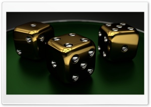 3D Dice 01 HD Wide Wallpaper for Widescreen