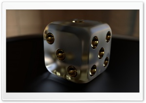 3D Dice 02 HD Wide Wallpaper for Widescreen