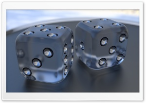 3D Dice 03 HD Wide Wallpaper for Widescreen