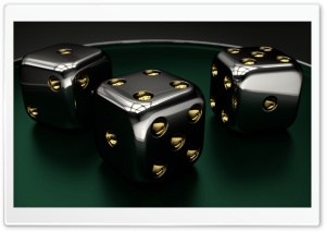 3D Dice 04 HD Wide Wallpaper for Widescreen