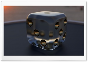 3D Dice 05 HD Wide Wallpaper for Widescreen