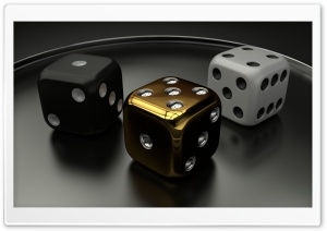 3D Dice 06 HD Wide Wallpaper for Widescreen