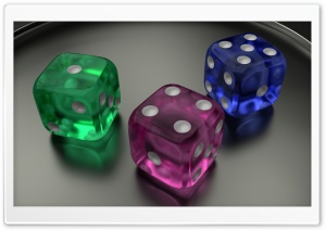 3D Dice 08 Ultra HD Wallpaper for 4K UHD Widescreen desktop, tablet & smartphone