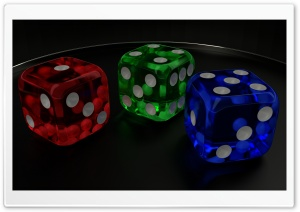 3D Dice 09 HD Wide Wallpaper for Widescreen