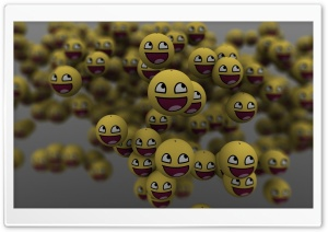 3D Emoticons Ultra HD Wallpaper for 4K UHD Widescreen desktop, tablet & smartphone