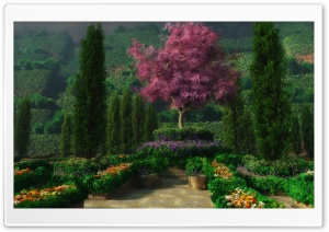 3D Garden HD Wide Wallpaper for Widescreen