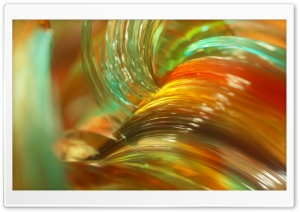 3D Glossy Glass Macro Ultra HD Wallpaper for 4K UHD Widescreen desktop, tablet & smartphone