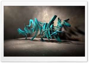 3D Graffiti Background III HD Wide Wallpaper for Widescreen