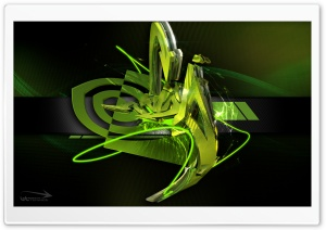 3D Graffiti Nvidia HD Wide Wallpaper for Widescreen