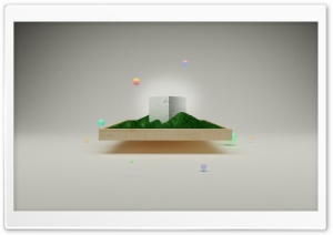 3D Minimalist Art HD Wide Wallpaper for Widescreen