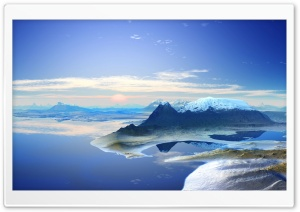 3D Mountain Scenery HD Wide Wallpaper for Widescreen