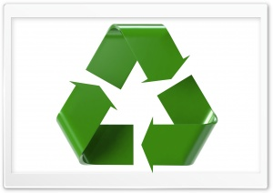 3D Recycle Logo HD Wide Wallpaper for Widescreen