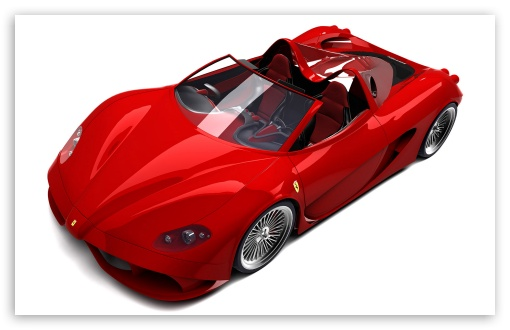 3D Red Ferrari Convertible HD wallpaper for Wide 16:10 5:3 Widescreen WHXGA WQXGA WUXGA WXGA WGA ; HD 16:9 High Definition WQHD QWXGA 1080p 900p 720p QHD nHD ; MS 3:2 DVGA HVGA HQVGA devices ( Apple PowerBook G4 iPhone 4 3G 3GS iPod Touch ) ; Mobile WVGA iPhone PSP - WVGA WQVGA Smartphone ( HTC Samsung Sony Ericsson LG Vertu MIO ) HVGA Smartphone ( Apple iPhone iPod BlackBerry HTC Samsung Nokia ) Sony PSP Zune HD Zen ;