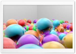 3D Reflection Balls HD Wide Wallpaper for Widescreen