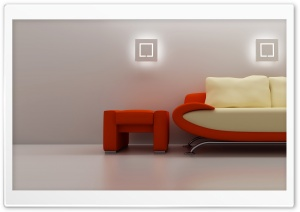 3D Sofa HD Wide Wallpaper for Widescreen