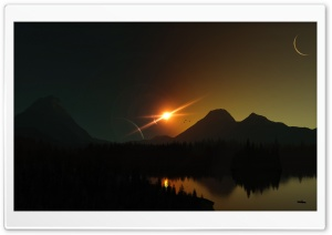 3D Solar Eclipse HD Wide Wallpaper for 4K UHD Widescreen desktop & smartphone