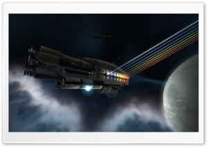 3D Spaceship HD Wide Wallpaper for Widescreen