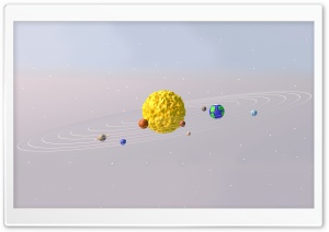 3D Sun System HD Wide Wallpaper for Widescreen