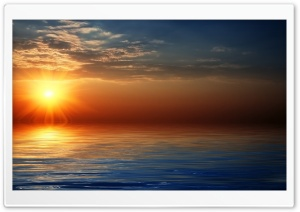 3D Sunset HD Wide Wallpaper for Widescreen