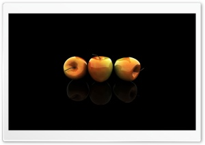 3d Three Apples HD Wide Wallpaper for Widescreen