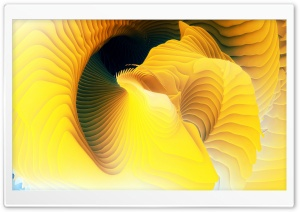 3D Yellow Spiral HD Wide Wallpaper for 4K UHD Widescreen desktop & smartphone