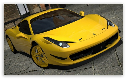 458 Italia Matte Yellow HD wallpaper for Wide 5:3 Widescreen WGA ; HD 16:9 High Definition WQHD QWXGA 1080p 900p 720p QHD nHD ; UHD 16:9 WQHD QWXGA 1080p 900p 720p QHD nHD ; Mobile 5:3 16:9 - WGA WQHD QWXGA 1080p 900p 720p QHD nHD ;