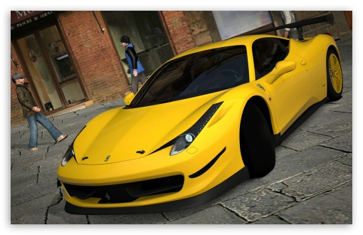 458 Italia Matte Yellow HD wallpaper for Wide 16:10 Widescreen WHXGA WQXGA WUXGA WXGA ; HD 16:9 High Definition WQHD QWXGA 1080p 900p 720p QHD nHD ; UHD 16:9 WQHD QWXGA 1080p 900p 720p QHD nHD ; Mobile 16:9 - WQHD QWXGA 1080p 900p 720p QHD nHD ;