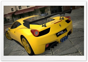458 Italia Matte Yellow HD Wide Wallpaper for 4K UHD Widescreen desktop & smartphone