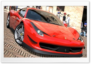 458 Italia Rojo HD Wide Wallpaper for Widescreen