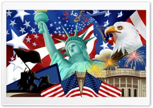 4th Of July HD Wide Wallpaper for Widescreen