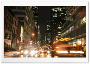 5th Avenue Rush Hour HD Wide Wallpaper for 4K UHD Widescreen desktop & smartphone