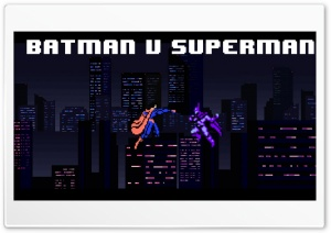 8-bit Batman v Superman HD Wide Wallpaper for 4K UHD Widescreen desktop & smartphone
