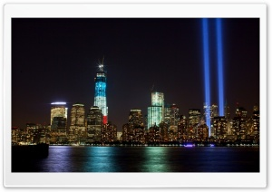911 Memorial Lights HD Wide Wallpaper for Widescreen
