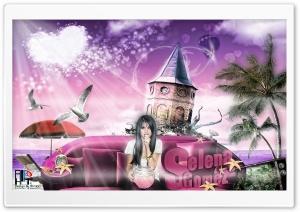 """ Selena Gomez In Island "" Design By Ali HoT HD Wide Wallpaper for Widescreen"