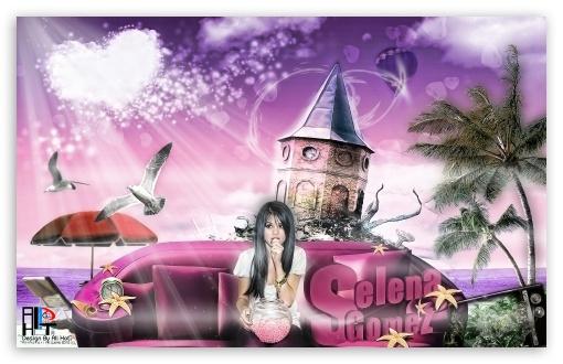 "Download "" Selena Gomez In Island "" Design... UltraHD Wallpaper"