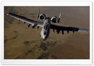 A-10 Thunderbolt II Aircraft HD Wide Wallpaper for Widescreen