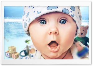 A Baby's World Ultra HD Wallpaper for 4K UHD Widescreen desktop, tablet & smartphone