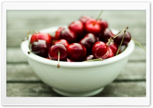 A Bowl Full of Cherries HD Wide Wallpaper for 4K UHD Widescreen desktop & smartphone