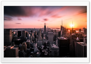 A Breathtaking New York City View HD Wide Wallpaper for 4K UHD Widescreen desktop & smartphone