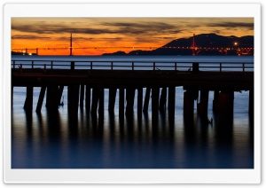 A Bridge And A Pier HD Wide Wallpaper for 4K UHD Widescreen desktop & smartphone