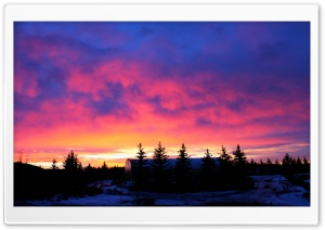 A Cotton Candy Sunrise HD Wide Wallpaper for Widescreen