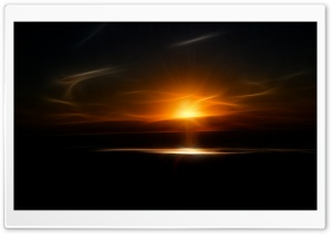A Fractal Sundown HD Wide Wallpaper for Widescreen