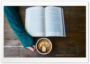 A Good Book and A Cup of Coffee HD Wide Wallpaper for 4K UHD Widescreen desktop & smartphone