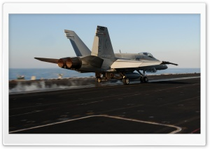 A Jet Launches From The Flight Deck HD Wide Wallpaper for 4K UHD Widescreen desktop & smartphone