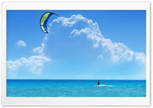 A Kitesurfer HD Wide Wallpaper for Widescreen