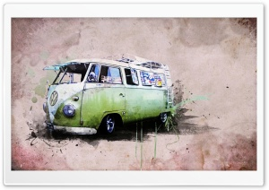 A Kombi Bus HD Wide Wallpaper for Widescreen